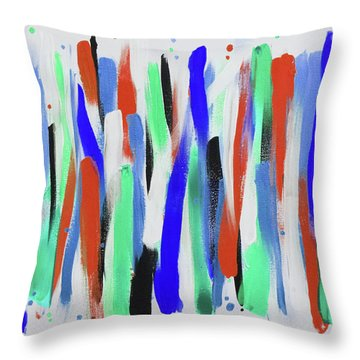 Get In Line 4 Throw Pillow