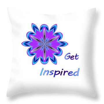 Get Inspired Throw Pillow