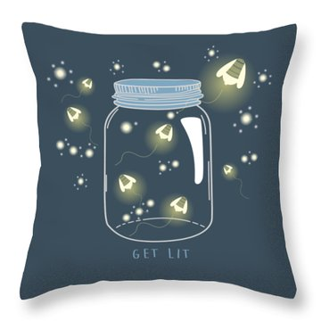 Throw Pillow featuring the digital art Get Lit by Heather Applegate