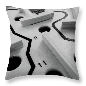 Get Me To The Finish Throw Pillow