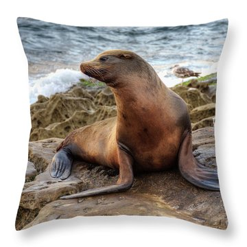 Get My Good Side Throw Pillow