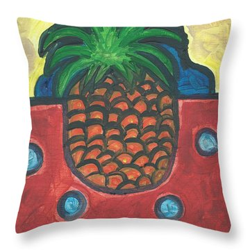 Throw Pillow featuring the painting Get Over Yourself by Janelle Dey