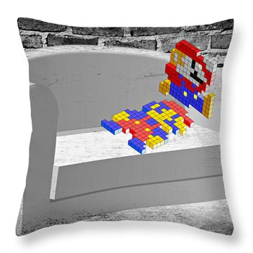 Get Up And Play Throw Pillow
