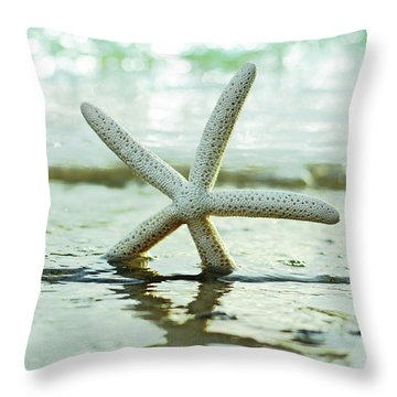 Throw Pillow featuring the photograph Get Your Feet Wet by Laura Fasulo