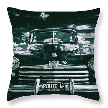 Throw Pillow featuring the photograph Get Your Kicks by Mark Miller