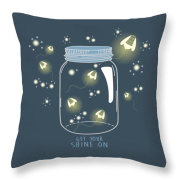 Get Your Shine On Throw Pillow by Heather Applegate