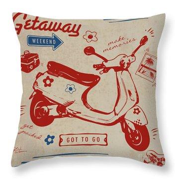 Getaway Weekend Throw Pillow
