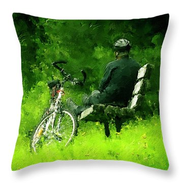 Getting Away From It All Throw Pillow by Ken Morris