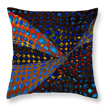 Getting Lippy Throw Pillow by Constance Krejci