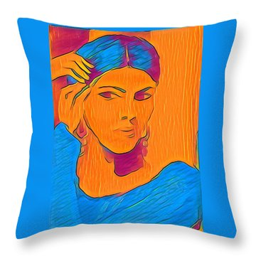 Getting Ready Electric Throw Pillow
