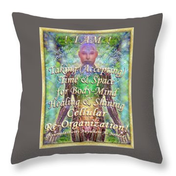 Getting Super Chart For Affirmation Visualization V2 Throw Pillow