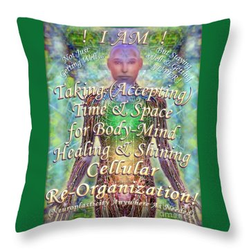 Getting Super Chart For Affirmation Visualization V3u Throw Pillow