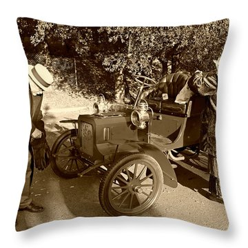 Getting The Reo Ready  Throw Pillow