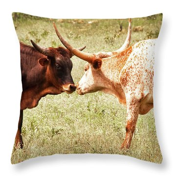 Getting To Know You Throw Pillow by Tamyra Ayles