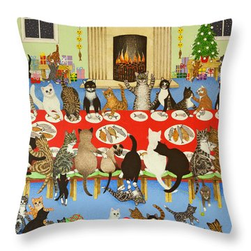 Getting Together Throw Pillow