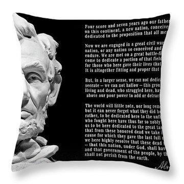 Gettysburg Address  1863 Throw Pillow