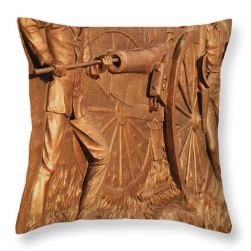 Gettysburg Bronze Relief Throw Pillow