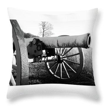Gettysburg Cannon Throw Pillow
