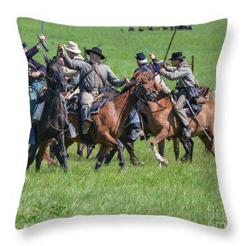 Gettysburg Cavalry Battle 7948c  Throw Pillow