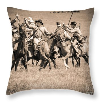 Gettysburg Cavalry Battle 7948s  Throw Pillow