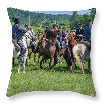 Gettysburg Cavalry Battle 7970c  Throw Pillow