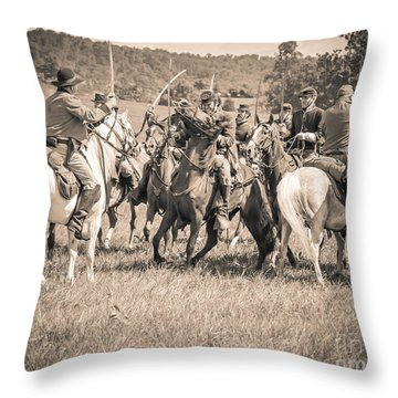 Gettysburg Cavalry Battle 7970s  Throw Pillow
