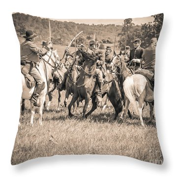 Gettysburg Cavalry Battle 7970s  Throw Pillow