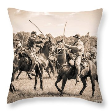 Gettysburg Cavalry Battle 7978s  Throw Pillow