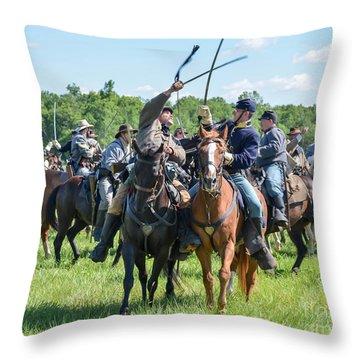Gettysburg Cavalry Battle 7992c  Throw Pillow