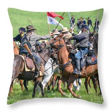 Gettysburg Cavalry Battle 8021c  Throw Pillow