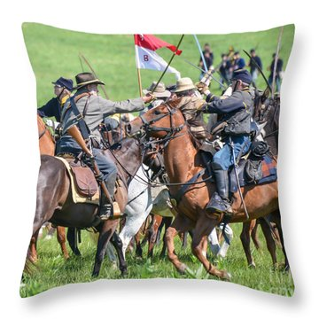 Gettysburg Cavalry Battle 8021c  Throw Pillow