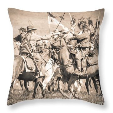 Gettysburg Cavalry Battle 8021s  Throw Pillow