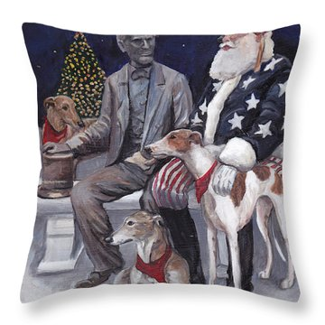 Gettysburg Christmas Throw Pillow
