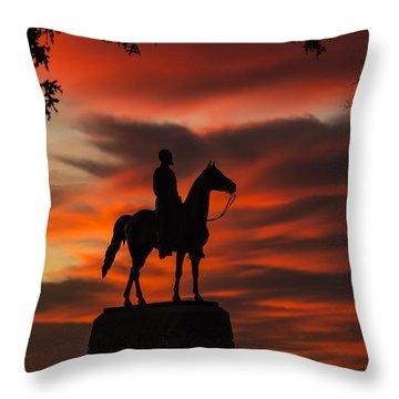 Gettysburg - Gen. Meade At First Light Throw Pillow