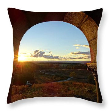 Gettysburg Golden Hour Throw Pillow