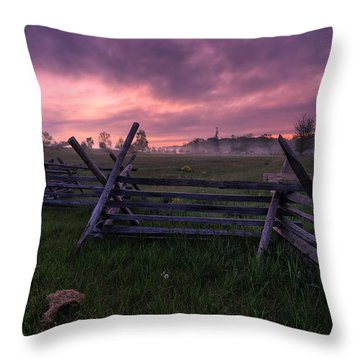 Gettysburg Mornings... Throw Pillow by Craig Szymanski