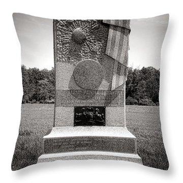 Gettysburg National Park 121st Pennsylvania Infantry Monument Throw Pillow