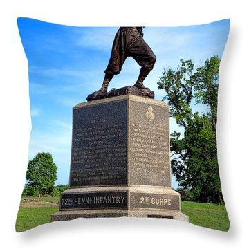 Gettysburg National Park 72nd Pennsylvania Infantry Memorial Throw Pillow