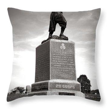 Gettysburg National Park 72nd Pennsylvania Infantry Monument Throw Pillow