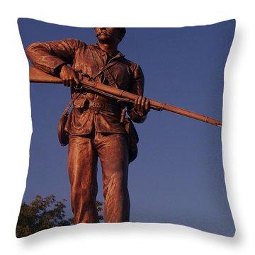 Gettysburg Statue Throw Pillow by Eric  Schiabor
