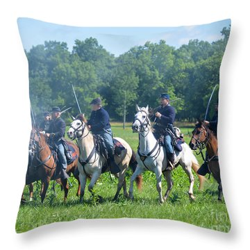 Gettysburg  Union Cavalry Throw Pillow