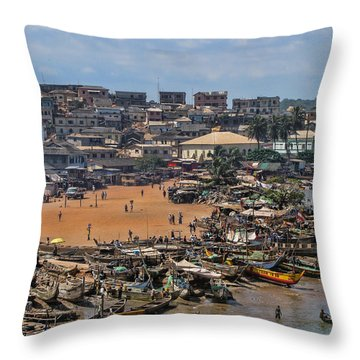 Ghana Africa Throw Pillow by David Gleeson