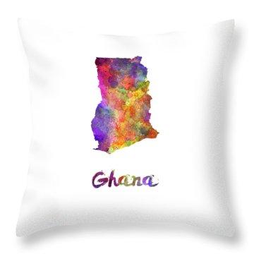Ghana In Watercolor Throw Pillow