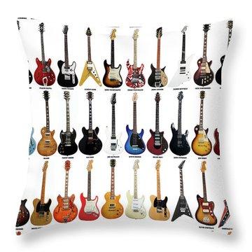 Guitar Legends Throw Pillow