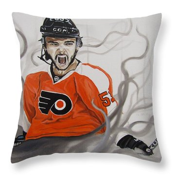 Ghost Bear Throw Pillow