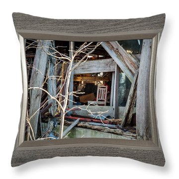 Ghost Chair Throw Pillow