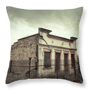 Ghost Cottage Throw Pillow