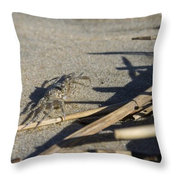 Ghost Crab Eyes The Debris Throw Pillow