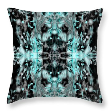 Throw Pillow featuring the digital art Ghost Flake Inverted by Reed Novotny