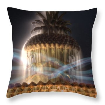 Throw Pillow featuring the photograph Ghost Fountain by Michael Colgate